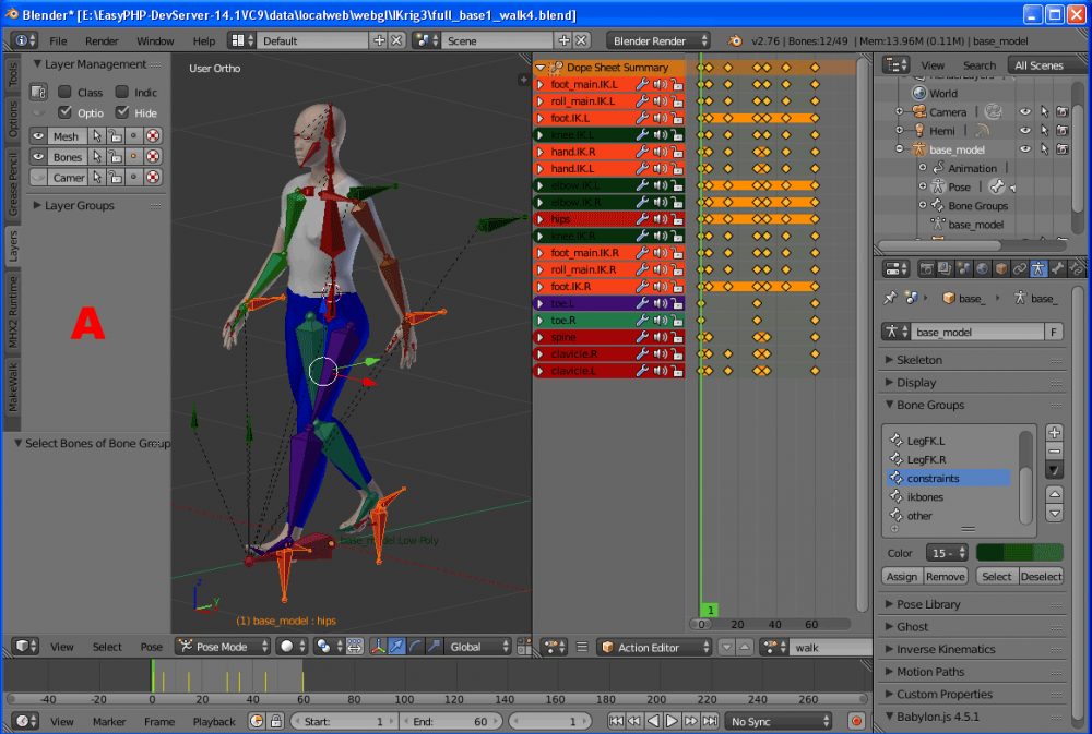 Blender Exporter and IK animation workflow - Questions