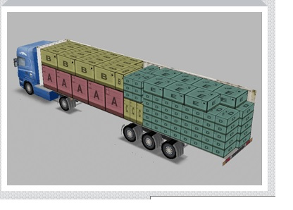 placing products into 3d truck using excel file with dimensions