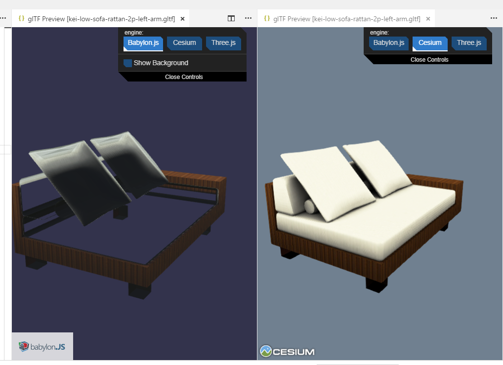 BabylonJS Renders GLTF Incorrectly, Some Faces Are Wrong Way