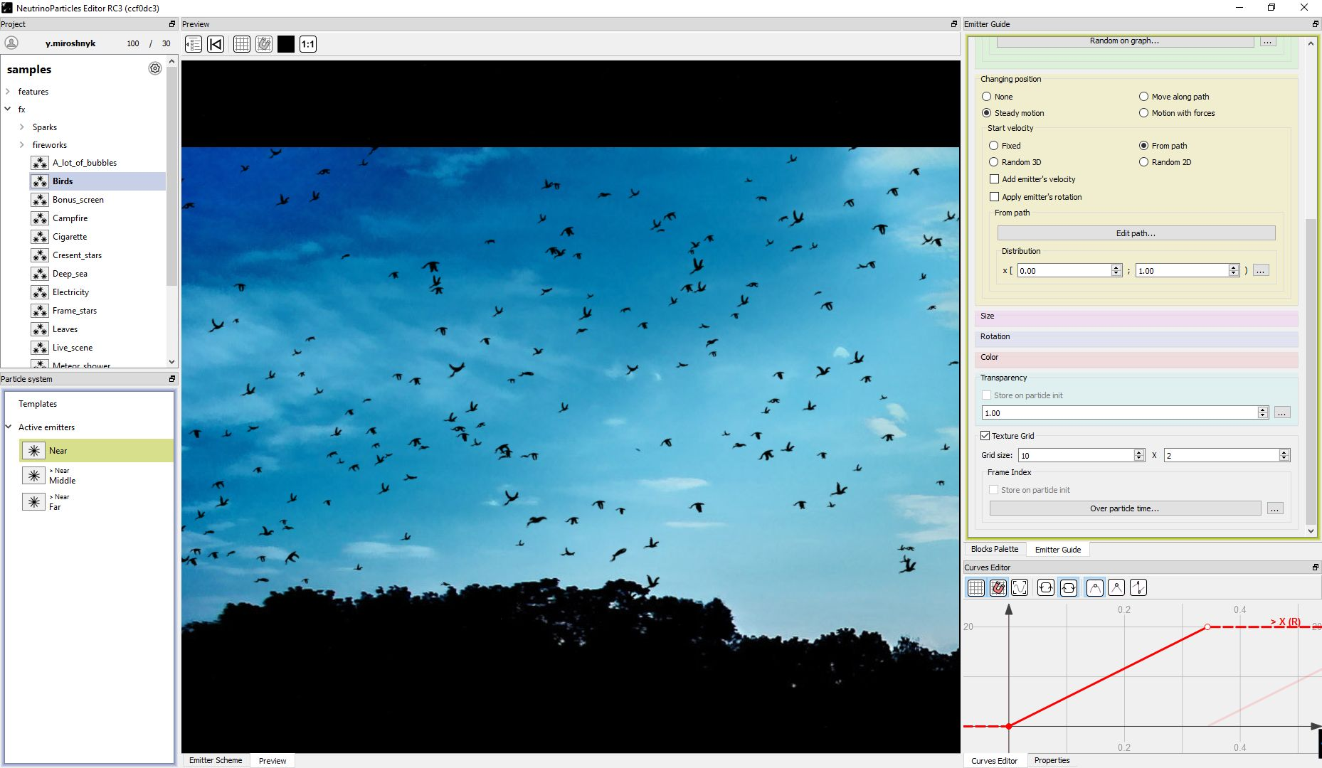 NeutrinoParticles - the best particle effects editor for