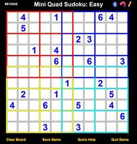 Mini Quad Sudoku