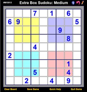 Extra Box Sudoku (Windoku)